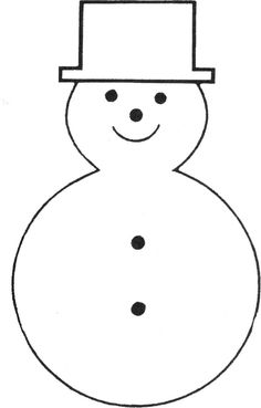 Large Snowman Template Snowman Paper Craft Crafts Pinterest