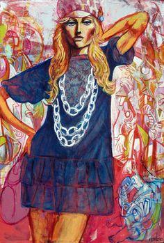 """Lisa au sautoir"" by Marc FERRERO"