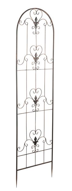 Metal Wall Trellis - Versailles Design Iron Trellis, Wall Trellis, Manor Garden, Garden Urns, Living Fence, Garden Living, Patio Plants, Indoor Plants, Iron Art