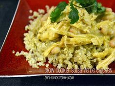 Slow Cooker Salsa Verde Chicken by Heather@MamaSass, via Flickr