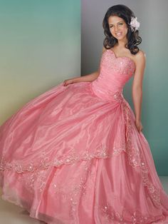 Light Quince Dresses - Soft Pink Princess Dress With Beaded Skirt