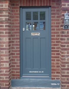 Front And Entry Doors For Your House – The Homeward View Front Door Steps, Grey Front Doors, Front Door Porch, House Front Door, Painted Front Doors, Composite Front Door, Front Door Paint Colors, French Doors Patio, Entrance Doors