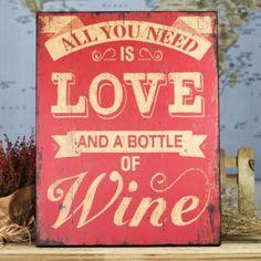 Ya estamos de vuelta y aunque hemos dejado refuerzos la avalancha de mails y pedidos sigue en aumento! Hoy es de esos días en los que además de Love necesito esto...    Cartel gigante de madera All you need is love and a bottle of wine  http://www.unabodaoriginal.es/es/cartel-de-madera-all-you-need-is-love-and-a-bottle-of-wine.html