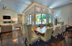 Love the light these glass walls bring in