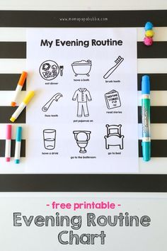 Printable Evening Routine Chart | Mama.Papa.Bubba. More
