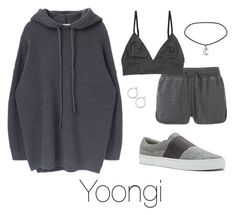 """""""Lazy day with Yoongi"""" by infires-jhope on Polyvore featuring Nordstrom, MANGO, Monki and ED Ellen DeGeneres"""