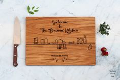 Personalized Cutting Board Engraved Custom  by WoodLuckEngraved