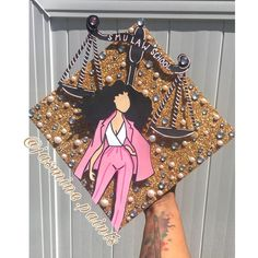 """Jasmine Paints on Instagram: """"Congratulations @taylarsimone you are officially ready for LAW SCHOOL! I absolutely adore your cap! #JasminePaintsForGraduates 🤗🎨🎓"""""""
