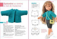 """Découvrez le livre de 64 pages """" J'habille ma poupée... : Spécial haute couture """" - 12 robes de poupées crochetées en un seul point : la mai..."""