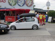 getunter VW up! mit Dachbox beim Wörthersee 2014