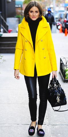 OLIVIA PALERMO   bright yellow.