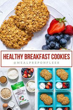 Coconut Oat Breakfast Cookies Breakfast Cookies, Recipe Collection, Coconut, Favorite Recipes, Organic, Healthy, Food, Essen, Meals