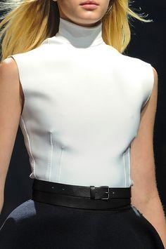 Lanvin at Paris Fashion Week Fall 2012 LW+LB Dress combined Fashion Details, Timeless Fashion, Fashion Trends, White Fashion, Paris Fashion, Michael Kors Fashion, Fashion Looks, Woman Fashion, Lanvin