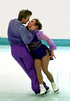 British ice dancing pair Torvill & Dean, 1984 Olympic gold medalists, for their memorable performance to Bolero