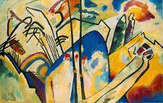 "Wassaly Kandinsky ""Batalha"", 1910. Abstracionismo"