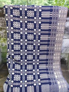 Antique Large Overshot Coverlet  103 x 86 by CottonCreekCottage, $195.00