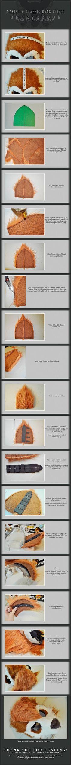 Fursuit bangs tutorial