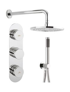 Dial valve 2 control with Central trim in Recessed | Luxury bathrooms UK, Crosswater Holdings
