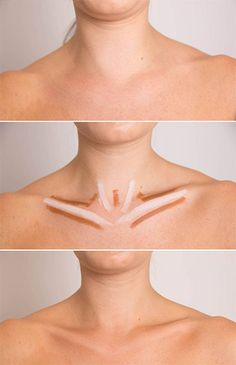 Contour and highlighting on body Makeup Tips, Beauty Makeup, Hair Makeup, Hair Beauty, Dewy Makeup, Beauty Secrets, Beauty Hacks, Beauty Tips, Natural Contour