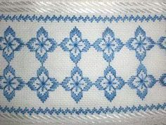 Swedish Embroidery, Hardanger Embroidery, Learn Embroidery, Hand Embroidery Stitches, Paper Embroidery, Crochet Doily Patterns, Needlepoint Patterns, Doilies Crochet, Cross Stitch Borders