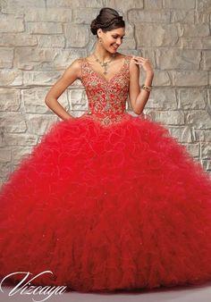 a4f6a3ef8 44 mejores imágenes de Vestidos de xv años color rojo
