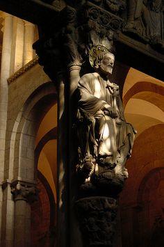 Partelúz del Pórtico de La Gloria. Catedral de Santiago de Compostela