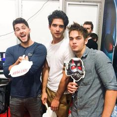 Dylan Sprayberry, Cody Christian, and Tyler Posey