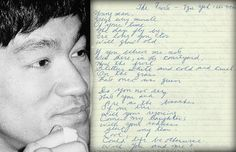 'The Frost' by Tzu Yeh as translated by Bruce Lee. This was one of his favorite poems.