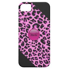 Pink Leopard iPhone5 Case by elenaind
