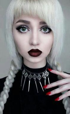 Blond goth beauty