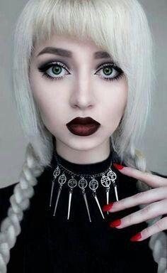 Blond goth beauty