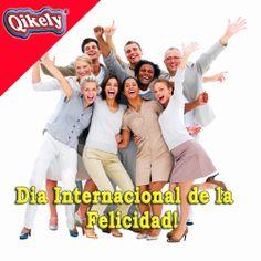"""20 de Marzo Dia Internacional de la Felicidad  """"La Felicidad es Contagiosa y siempre consigue descubrir una solución donde la lógica solo encontró una explicación para el error""""  Paulo Coelho #diafelicidad #happyday #qikely"""