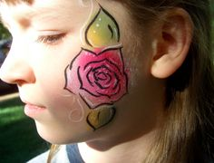 Rose Cheek Paint for Valentines.