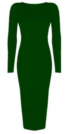 Womens Ladies Celebrity Inspired Long Sleeve Bodycon Midi Calf Length Dress - Normal and Big Sizes (XL/XXL (20-22), Khaki) Baleza http://www.amazon.co.uk/dp/B00G48DFG8/ref=cm_sw_r_pi_dp_goBBwb1SQ8TBZ