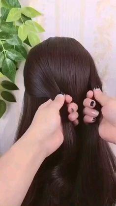 Bun Hairstyles For Long Hair, Braided Hairstyles Updo, Hairstyle Braid, Quick Hairstyles, Medium Length Updo Hairstyles, Thick Hair Updo, Easy Braided Updo, Braids For Medium Length Hair, Beautiful Hairstyles