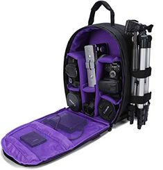 G-raphy Camera Bag Camera Backpack with Rain Cover for DSLR Cameras, Lens, Tripod and Accessories (Purple, Small) : Camera & Photo Nikon Camera Tips. DSLR Camera and Mirrorless Backpack Bag by i-graphy for Camera and Lens. Best Camera Backpack, Camera Case, Backpack Bags, Nikon Camera Tips, Camera Hacks, Dslr Cameras, Wireless Home Security Cameras, Security Camera System, Photography Bags