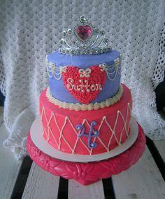 princess pink purple cake girl birthday princess sophia - www.facebook.com/blovestobake