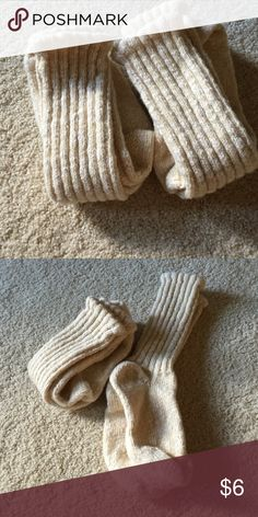 Wigwam Socks Set of 2 Wigwam Socks. Beige. Excellent condition. Feel like a wool blend. Heavy. Fits ladies 5-9. Safe for machine wash/dry. Not from a smoke free house. Wigwam Accessories Hosiery & Socks