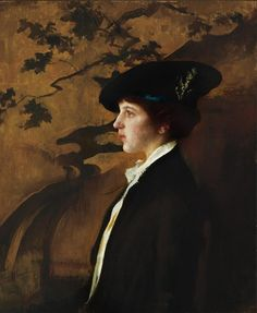 .:.       Mary with a Black Hat, Edmund Tarbell