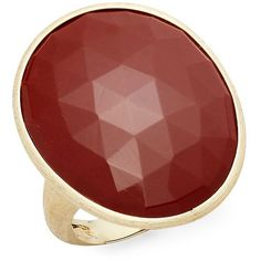 Marco Bicego Women's Red Jasper & 18K Gold Ring - Size 7 ($1,215) ❤ liked on Polyvore featuring jewelry and rings