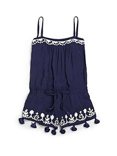 melissa odabash toddler's & little girl's embroidered playsuit