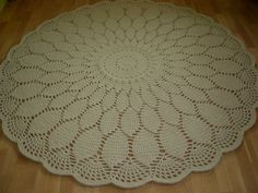 Crochet doily round rug 787''200 cmMade to by AnuszkaDesign, $200.00