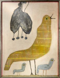 Mama Loves Her Baby Birds Vintage Framed Art Print