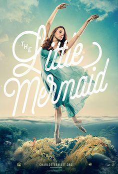 Charlotte Ballet Poster Design Mermaid