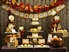 Fall Inspired Little Pumpkin Dessert Table