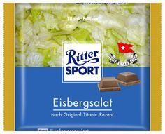 RITTER SPORT Fake Schokolade Eisbergsalat