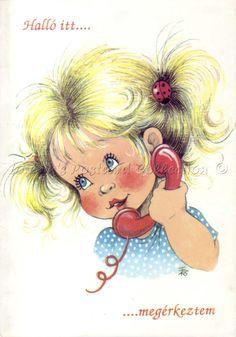 Füzesi Zsuzsa - Lorenin's Collection Cute Kids, Princess Peach, Teddy Bear, Retro, Drawings, Fictional Characters, Animals, Hungary, Anna