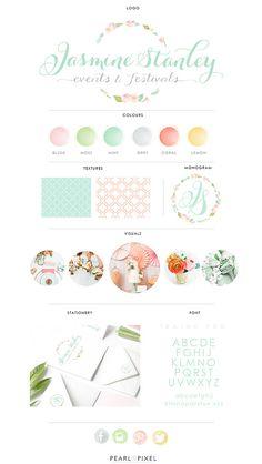 Custom Logo and Branding Design by PearlAndPixel on Etsy Web Design, Design Blog, Love Design, Blog Designs, Branding Kit, Branding Design, Bakery Branding, Branding Ideas, Logo Ideas