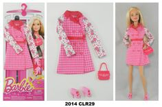 2014 Barbie Complete Look Fashion Packs Barbie Dress, Barbie Clothes, Barbie Doll, Look Fashion, Fashion Outfits, Fashion 2014, Houndstooth Coat, Floral Sleeve, Barbie Accessories