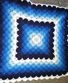 passo 3 para almofada repetir até tamanho desejadoBeautiful shells blanket - Free Pattern